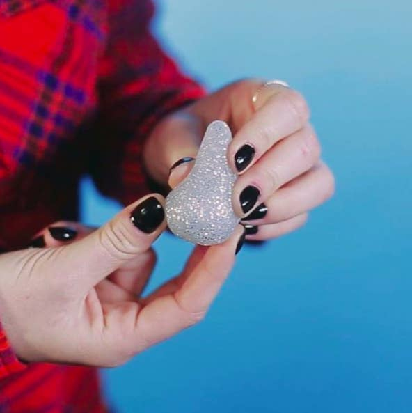 Makeup artist Angie Johnson created this sparkly savior to keep foundation in your bottle and make cleanup time a breeze. While it's not the first silicone blender to the market, it has a similar texture to a lot of existing beauty sponges. Also, the classic egg shape helps you get into all of those nooks and crannies.