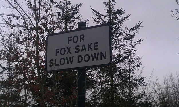 This British roadsign.