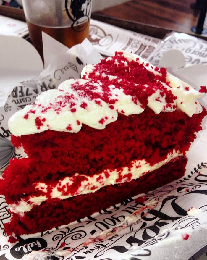 You do you, America, but really, why color a cake red? Especially when it doesn't even taste like anything that's red!