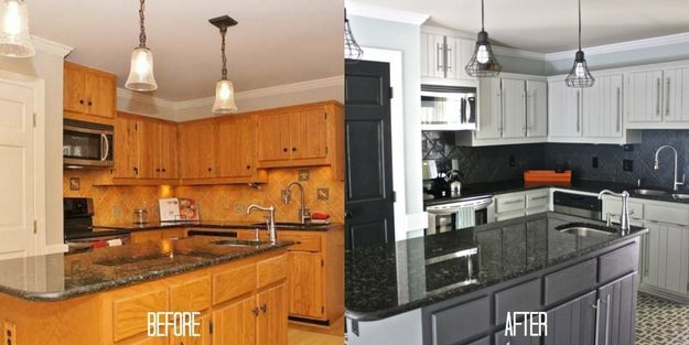 Paint your cabinets to give your kitchen that just-remodeled feeling for pennies versus what it would cost to replace them.