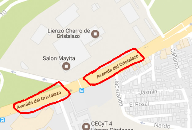 """Nada sería más real que convertir Avenida Constituyentes en """"Avenida del Cristalazo""""."""