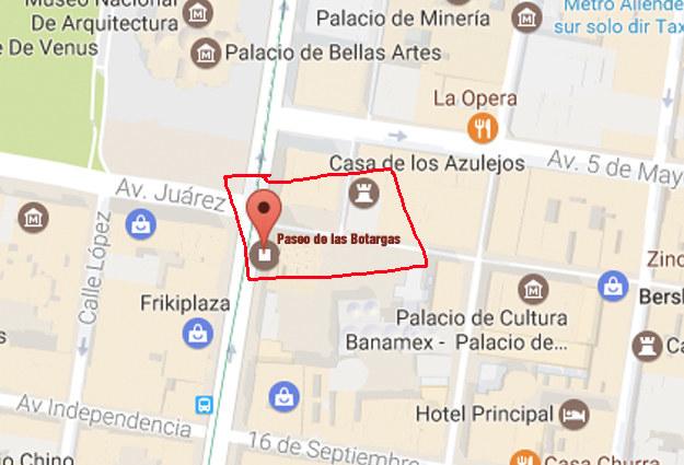"""La calle de Madero, en el Centro Histórico, se llamaría """"Paseo de las Botargas""""."""