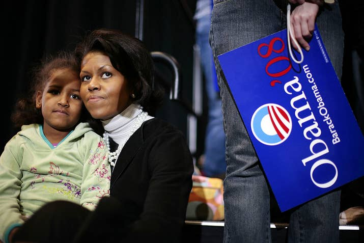 Obama Daughters 2008 Vs 2016