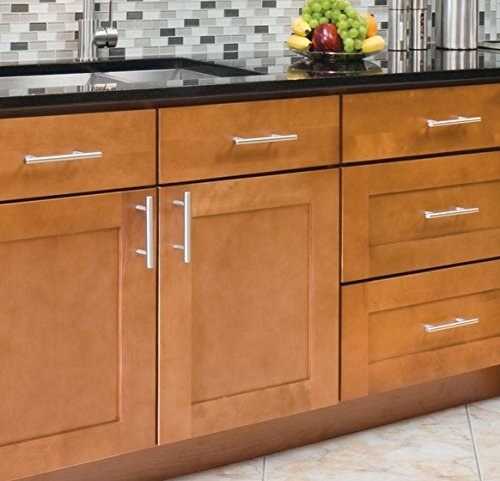 Swap the handles on your cabinets and drawers to update your kitchen.