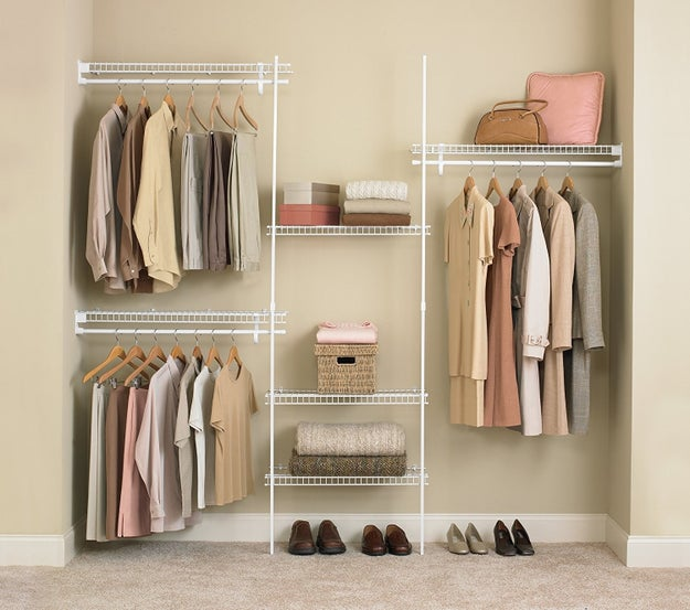 Install shelving systems in every room to add storage.