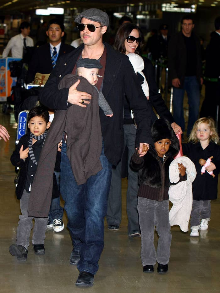 The Pitt-Jolie family in 2009.
