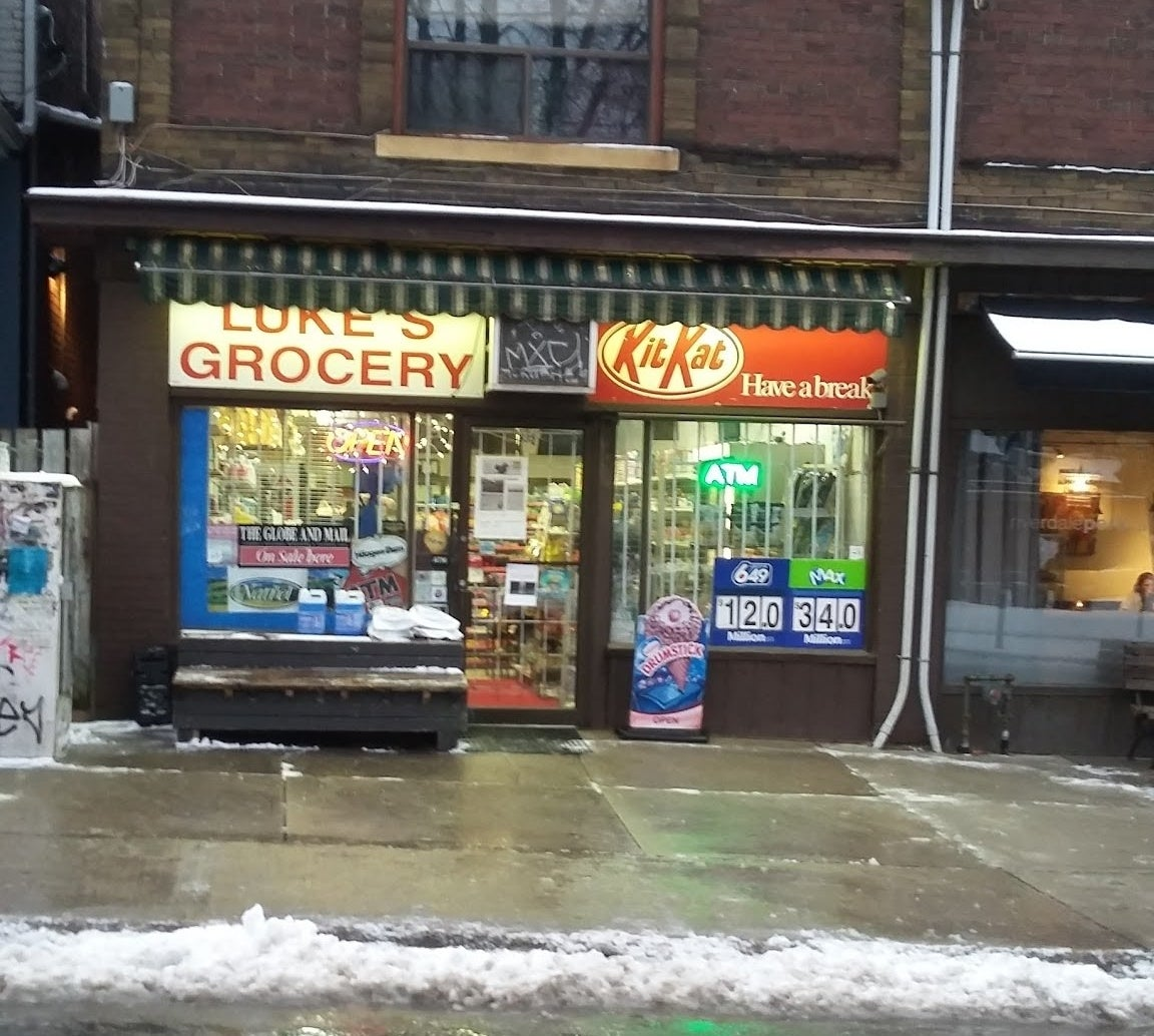 This is Luke's Grocery, a convenience store in Toronto owned by the Kim family. And they have a very nutty problem.