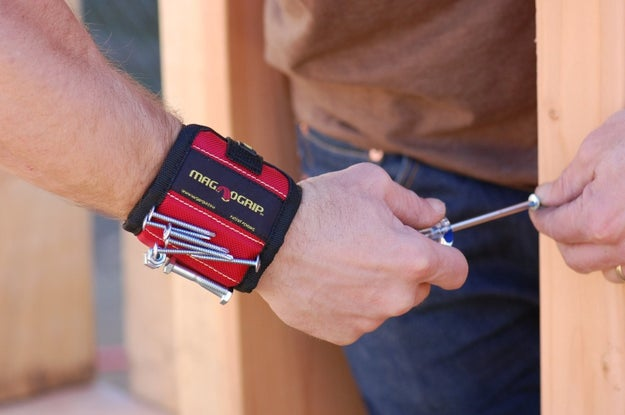 A magnetic wristband that'll hold all your nails and screws.