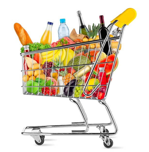 Image result for clipart shopping buggy with sodapop