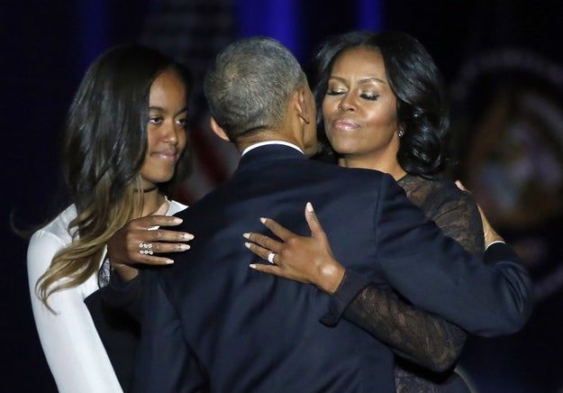 """Malia and Sasha, under the strangest of circumstances, you have become two amazing young women, smart and beautiful, but more importantly, kind and thoughtful and full of passion,"" he said."