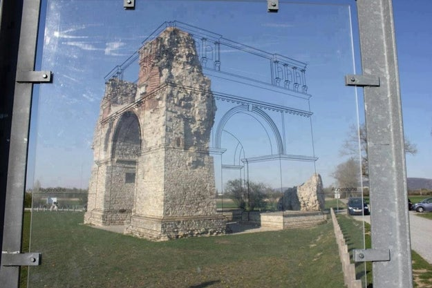 This great method of showing you what buildings looked like before they were ruined.
