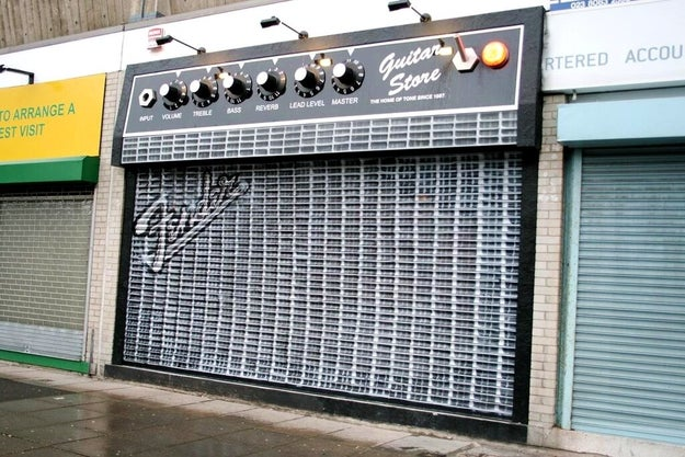 Not to mention this guitar shop.