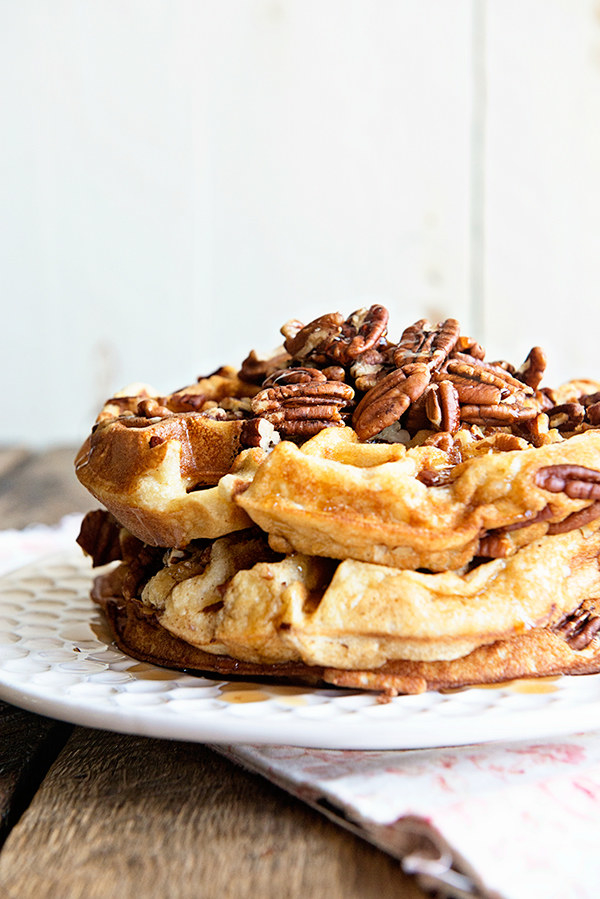 Maple Pecan Waffles