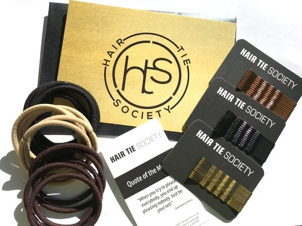 Quit throwing away your money at the drugstore at $3 a pop for fresh hair ties and commit to Hair Tie Society, a dirt-cheap monthly subscription of new hair ties and bobby pins.
