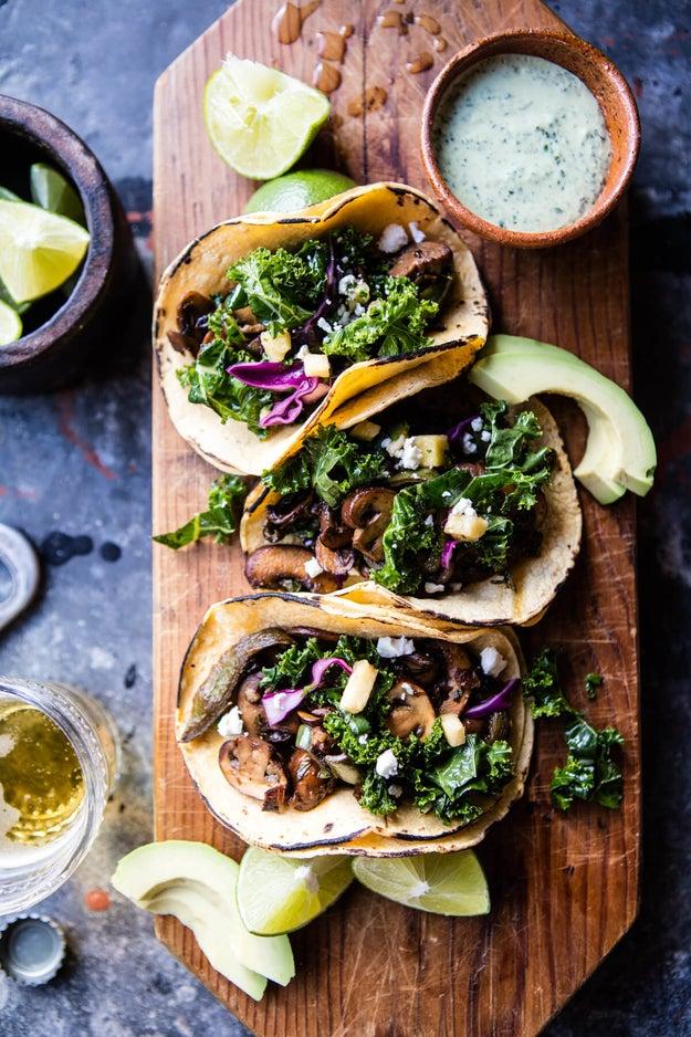 Poblano Mushroom Tacos