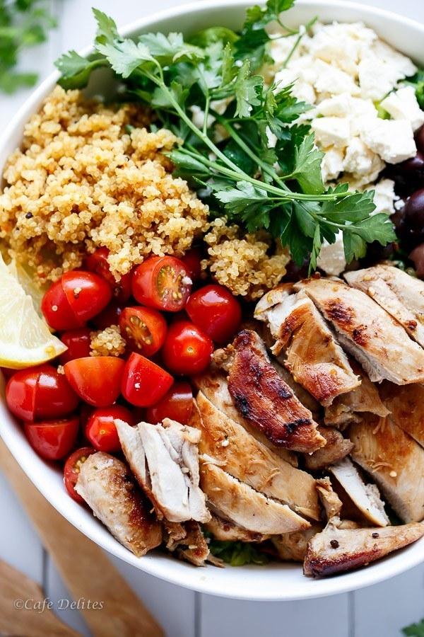 Balsamic Chicken and Lemon Quinoa Bowl