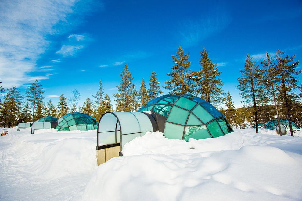 The Kakslauttanen Arctic Resort in Saariselkä, Finland