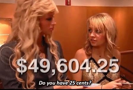 When Nicole desperately needed to borrow a quarter: