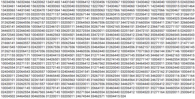 El video descubierto venía acompañado de un montón de números de ocho dígitos.