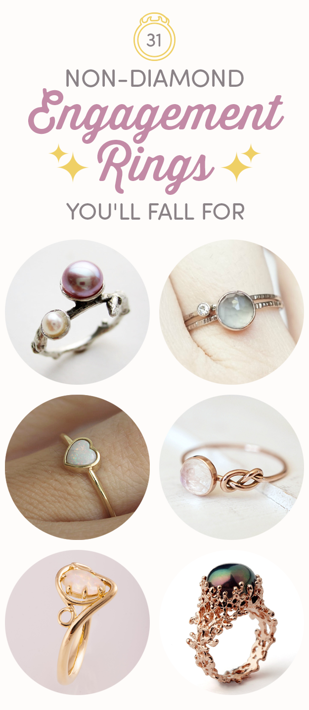 31 Gorgeous Non Diamond Engagement Rings You ll Totally Fall For