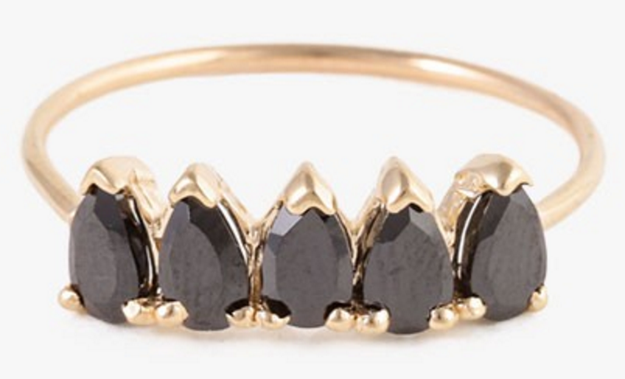 A black onyx ring that matches your dark humor and outlook on life.