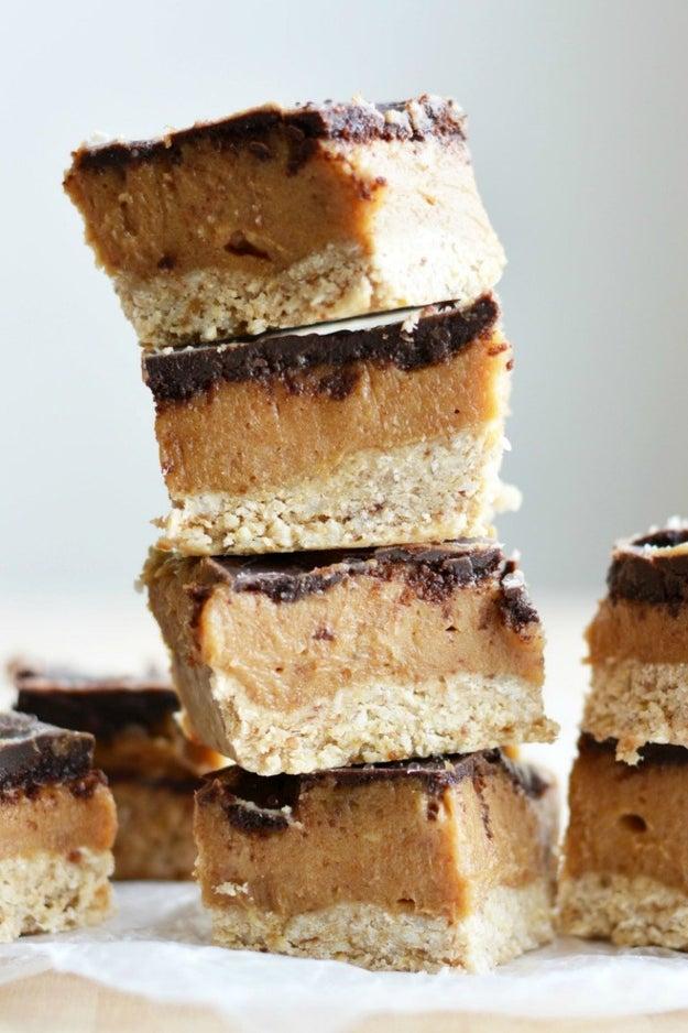 No-Bake Chocolate Peanut Butter Caramel Bars