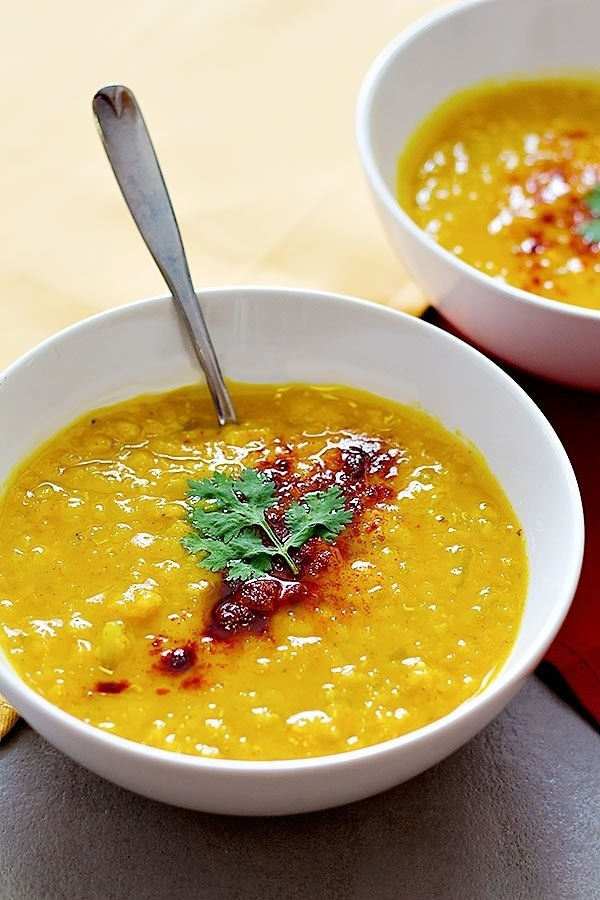 Turmeric Ginger Red Lentil Soup