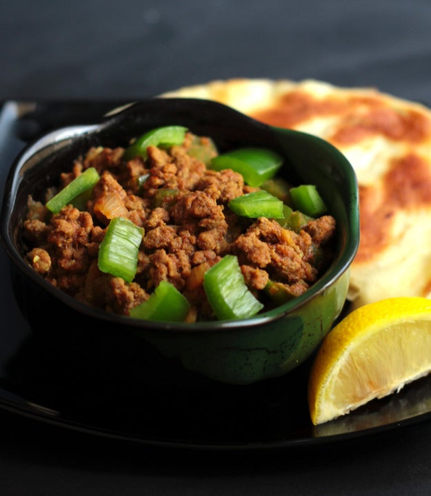 Spicy Minced Beef with Capsicum