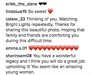 And fans have continued to flood her account with messages of love and support.