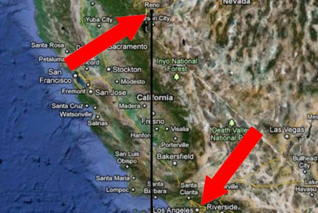 Say what??? It's true! LA is practically on the east coast compared to Reno.