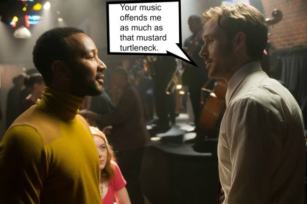 If you've seen La La Land, you know that Ryan Gosling's old school jazz loving character, Sebastian, very reluctantly joins the pop-oriented jazz band fronted by John Legend's character, Keith.