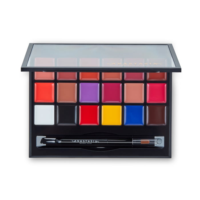 It includes 18 vibrant AF shades (primary hues, bolds and neutrals).