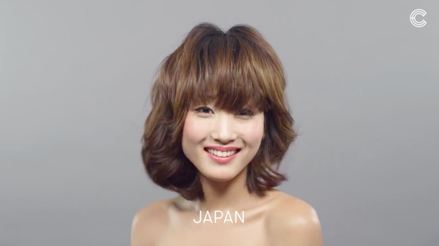 The soft and simple look was popular in Japan.