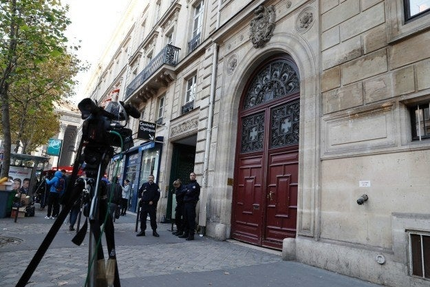 Outside the No Name Hotel in Paris.