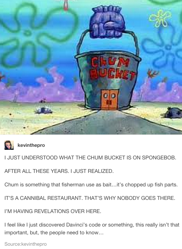 This gross hypothesis about Plankton's restaurant: