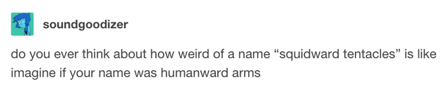 This realization about Squidward's name: