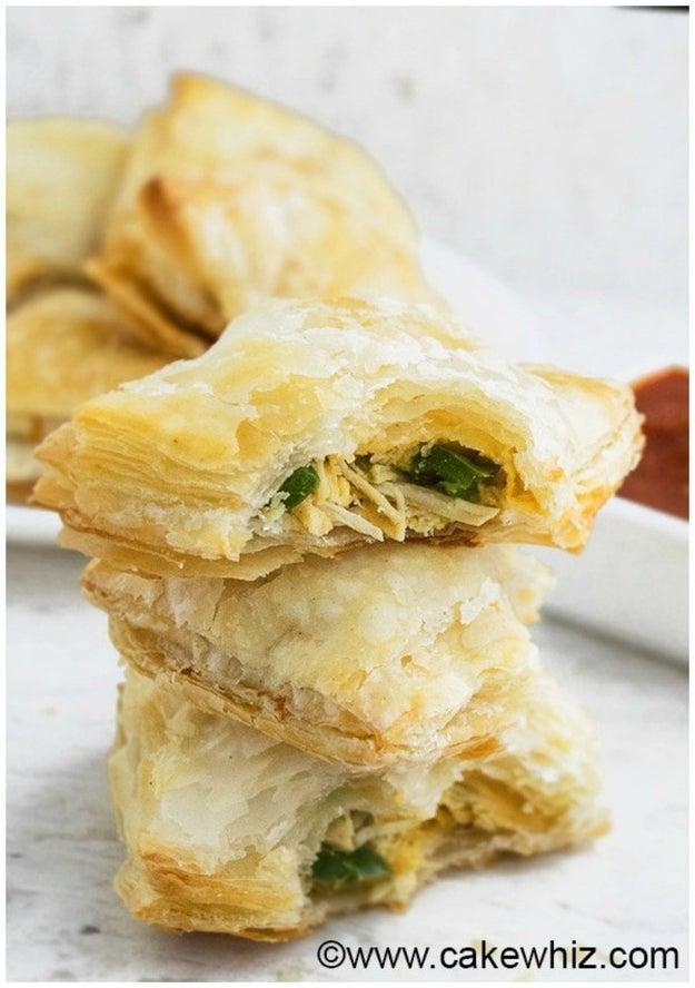 Jalapeno Chicken Puffs