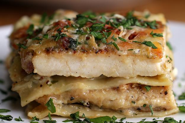 Spinach chicken alfredo lasagna for Spinach chicken lasagna recipe