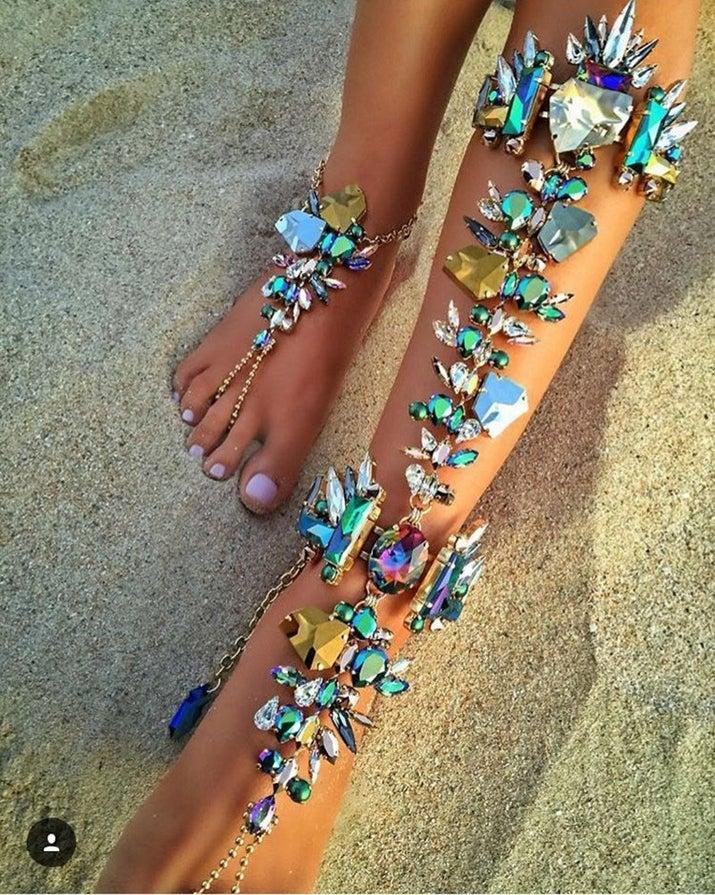 Boho Barefoot Sandals Wedding Jewelry