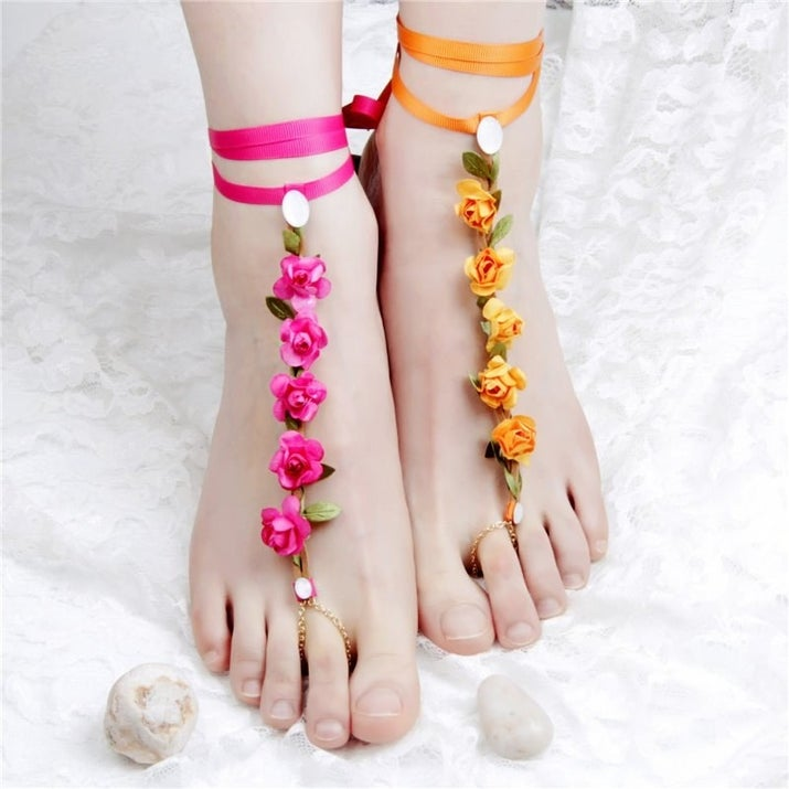 Ribbon Anklets Beach Jewelry