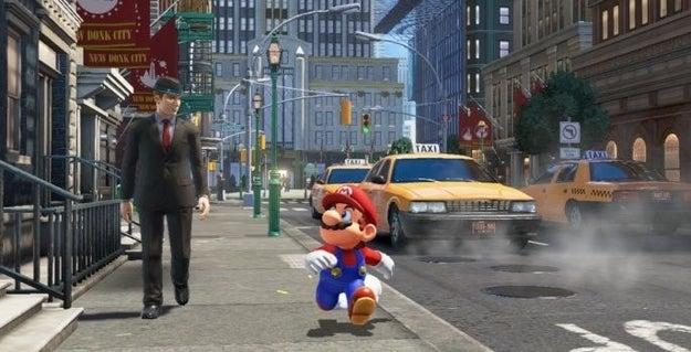 El juego verá a Mario saliendo del Mushroom Kingdom a un nuevo mundo (sospechosamente parecido al nuestro) en el que, como siempre, tendrá que rescatar a la princesa Peach.