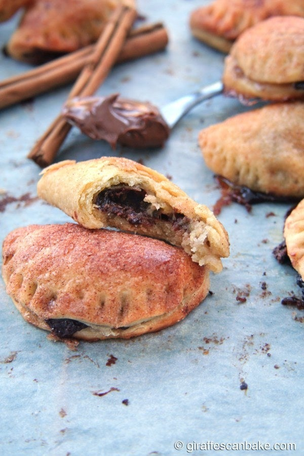 Though empanadas are traditionally filled with meats, vegetables, and fruit, this recipe dons a spiced Nutella filling that is now our favorite use for the chocolate spread. Recipe here.