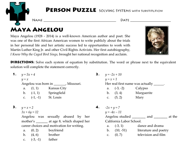 "Clint Clark, a high school teacher who created the Maya Angelou ""Person Puzzle"" worksheet that includes the sexual assault question, told BuzzFeed News that he wanted ""to honor [Angelou's] desire to advocate for the voiceless victims of abuse."""