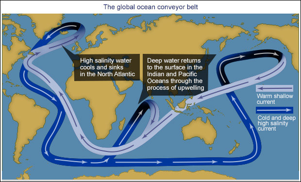 It takes about one thousand years for water to travel around the entire planet.