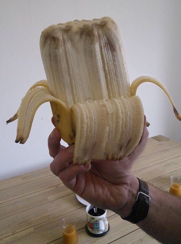 And...Lord help us...six bananas in one: