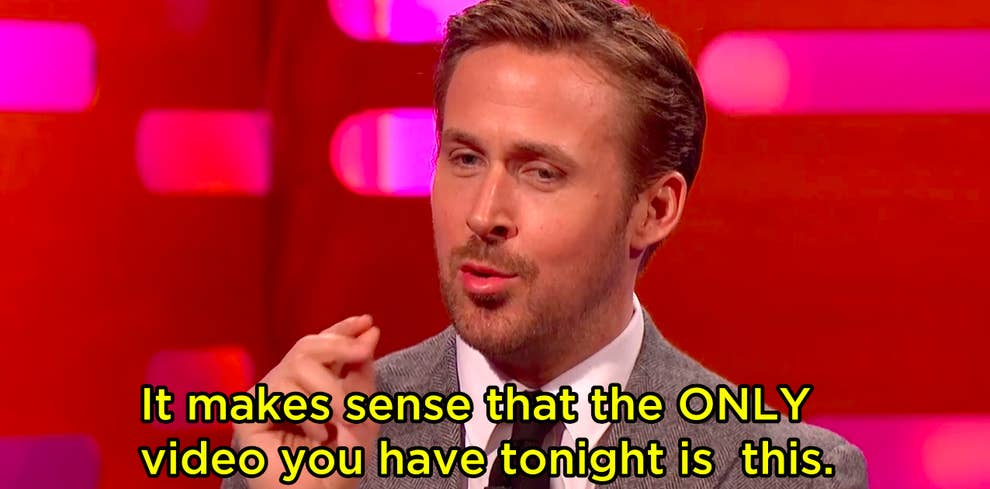 Ryan Gosling Watched Footage Of Himself Dancing As A Kid And It Will