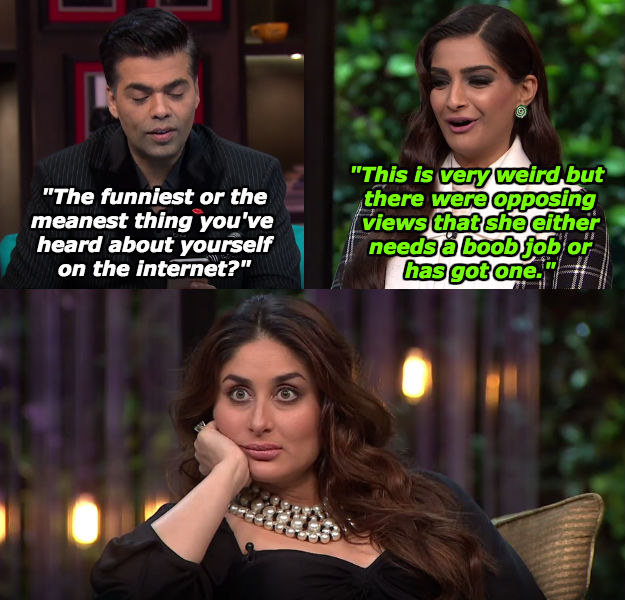 When Sonam revealed this appalling rumour about herself.