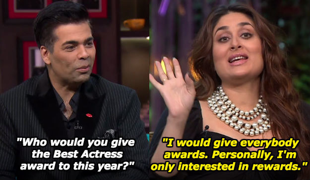 When Kareena was damn straight about her priorities in the movie business.