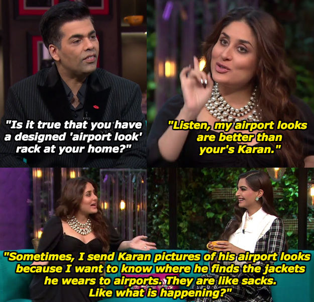When Kareena had a thing or two to say about Karan's fashion choices.