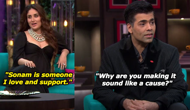 When Karan didn't buy all of Kareena's affections for Sonam.